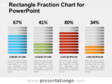 Free Rectangle Fraction Chart for PowerPoint