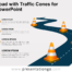 Free Road with Traffic Cones for PowerPoint