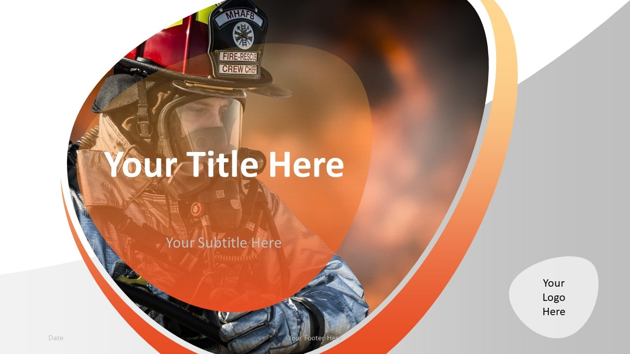 Free Firefighter PowerPoint Template - Cover