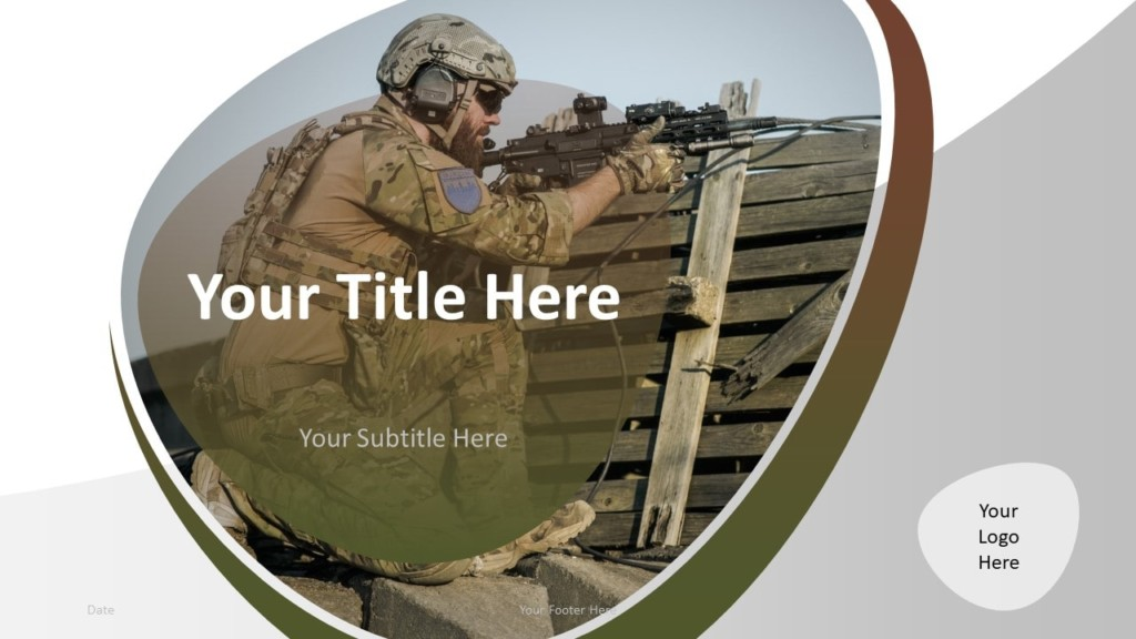 Free Military PowerPoint Template - Cover