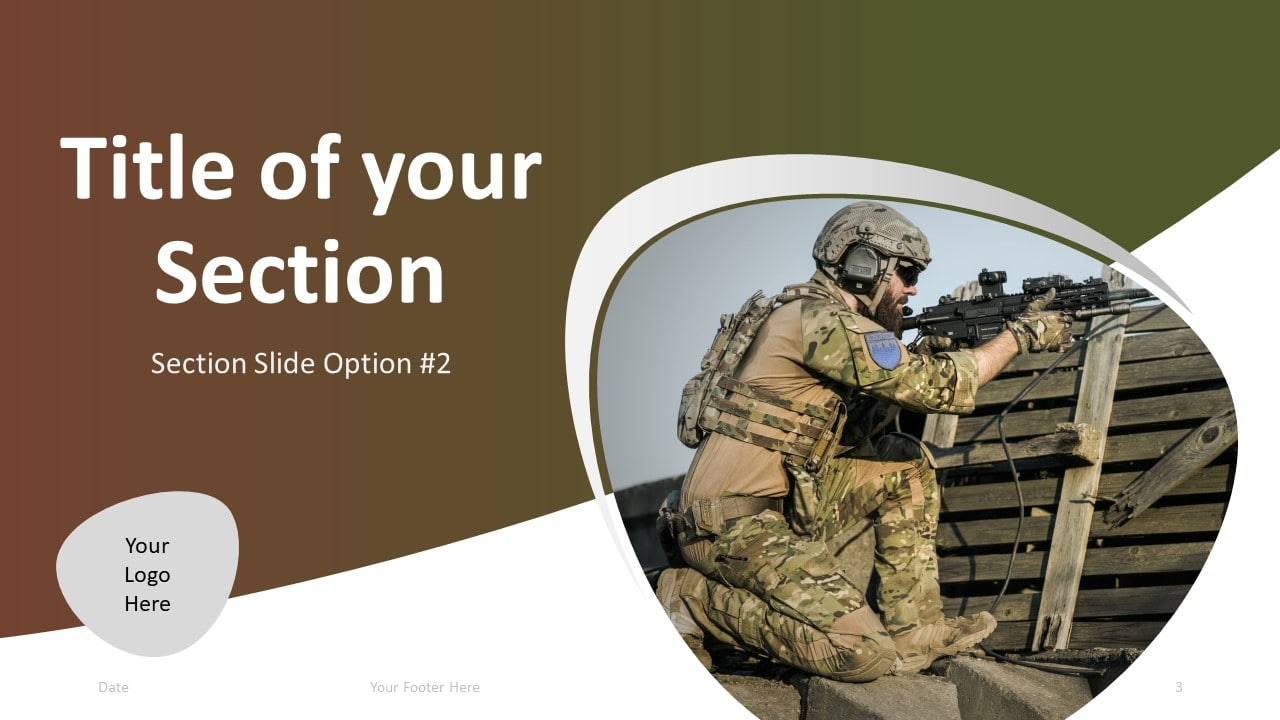 Free Military PowerPoint Template - Section 2