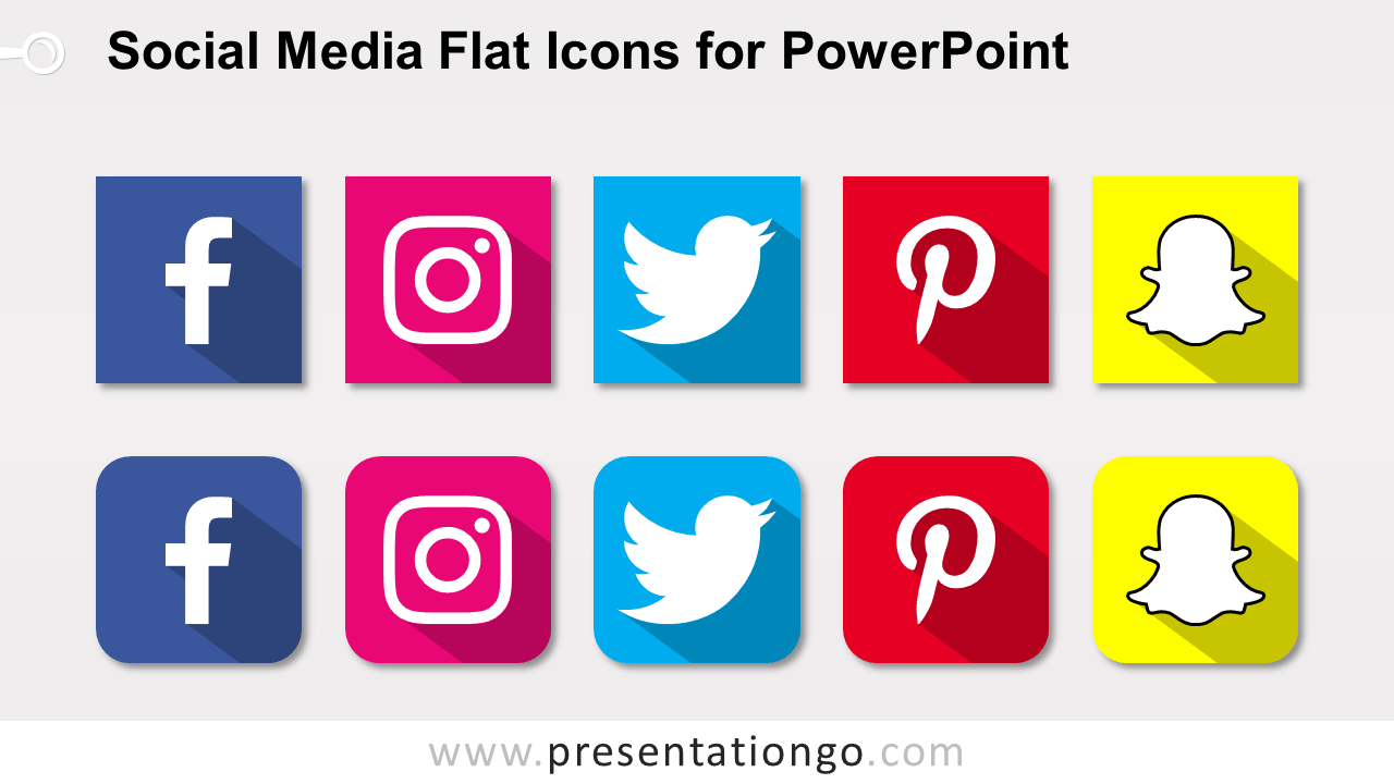 Free Social Media Icons for PowerPoint