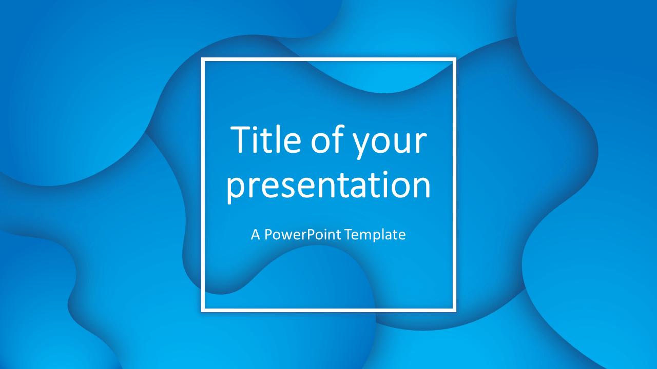 Fluids Free PowerPoint Template (Blue)