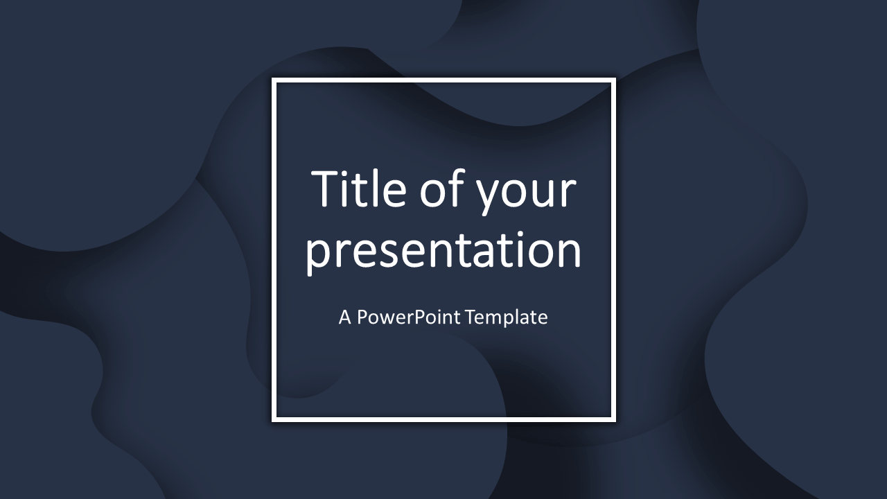 Fluids Free PowerPoint Template (Dark Blue)