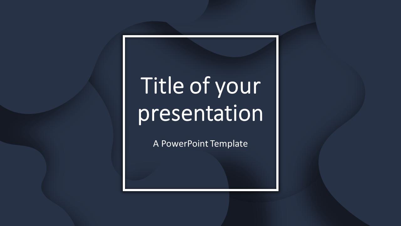 Fluids Free PowerPoint Template (Dark Blue)