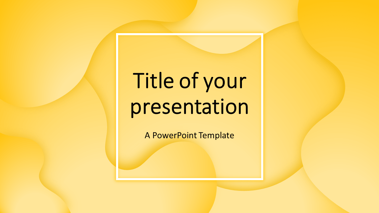 Fluids - Free PowerPoint Template (Yellow)