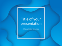 Free Fluids PowerPoint Template (Blue)