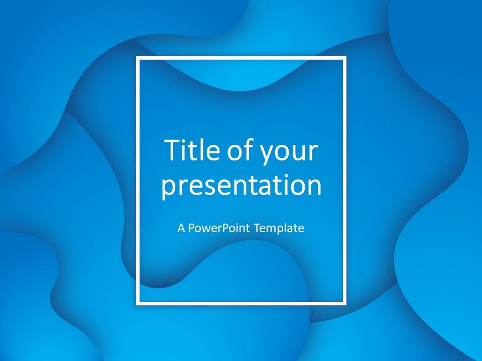 Free Fluids PowerPoint Template (Blue)