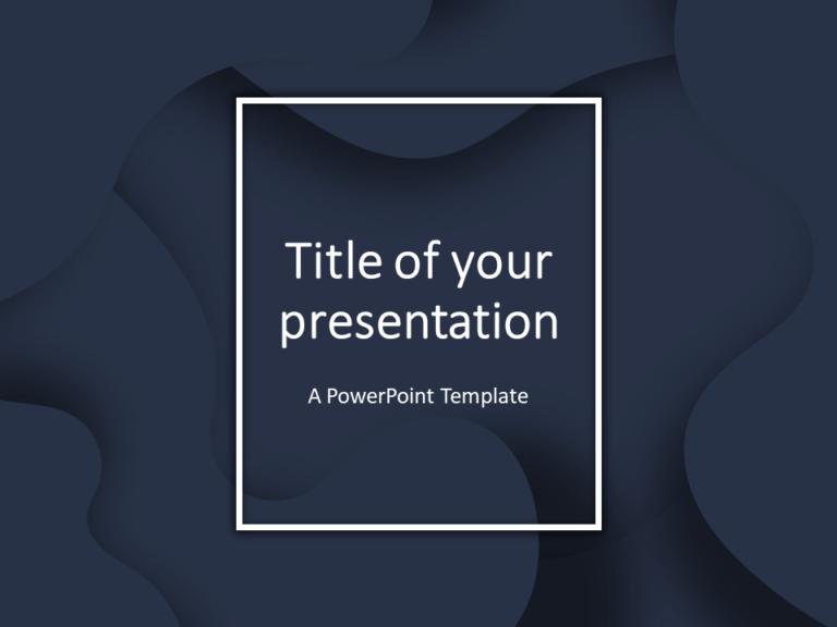Free Fluids PowerPoint Template (Dark Blue)