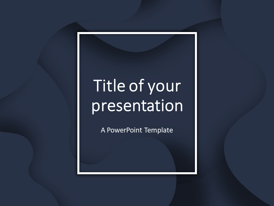 Free Fluids PowerPoint Template (Dark Blue)