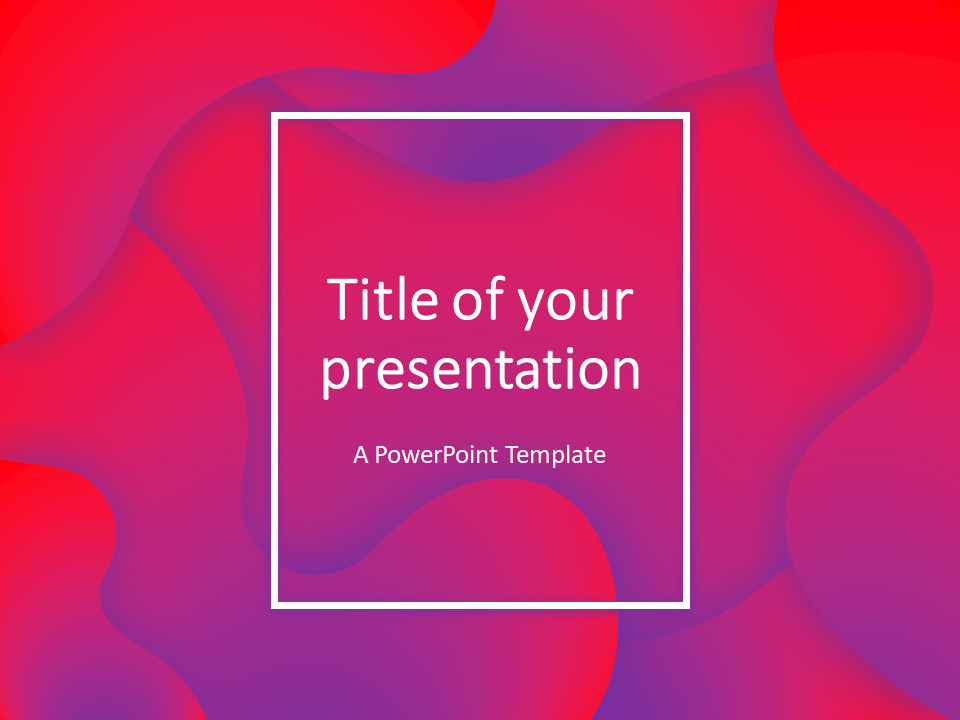 Free Fluids PowerPoint Template (Pink-Purple)