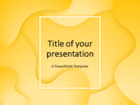 Free Fluids PowerPoint Template (Yellow)