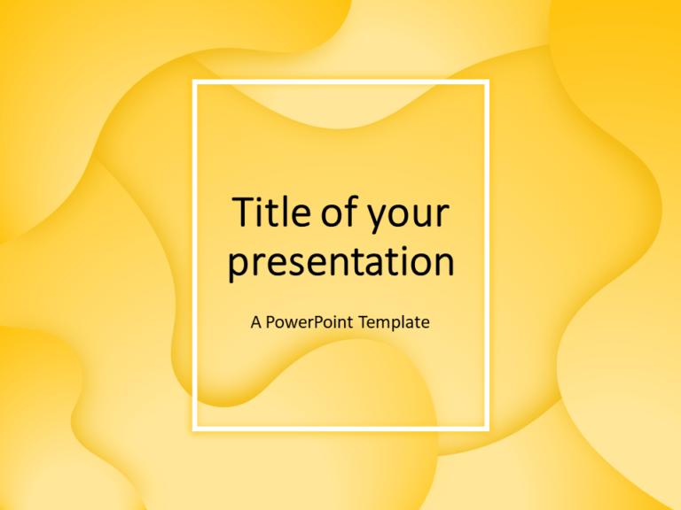 Free Fluids PowerPoint Template (Yellow)