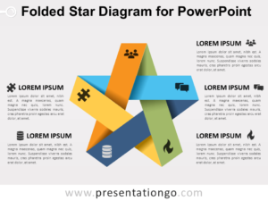 Free Folded Star Diagram for PowerPoint