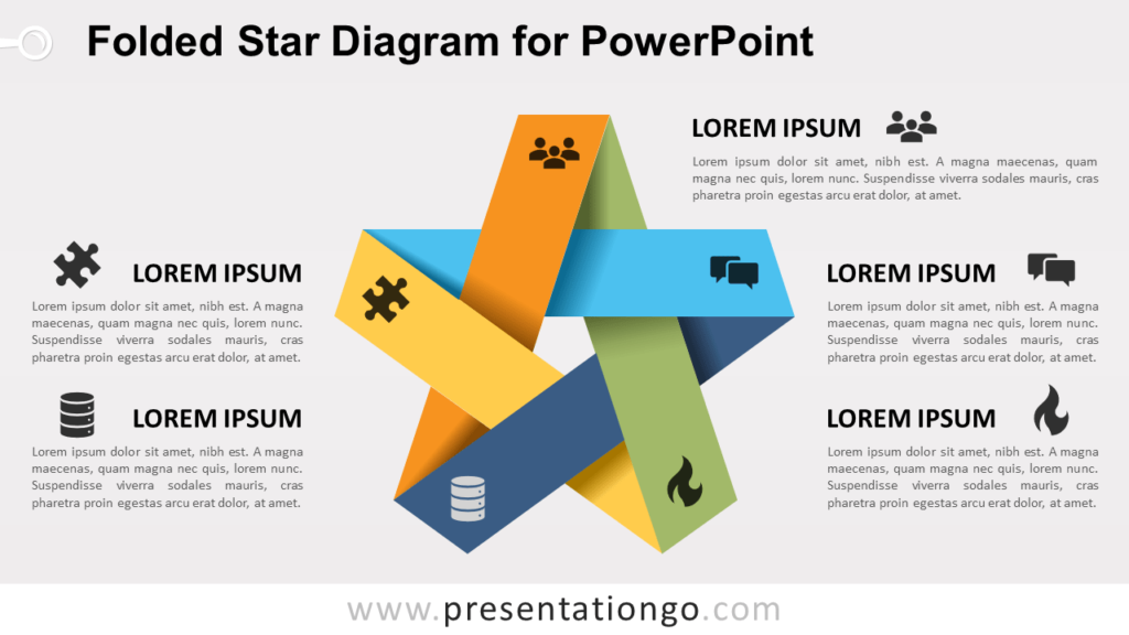 Free Folded Star for PowerPoint