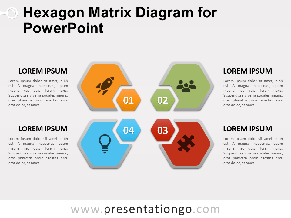 Free Hexagon Matrix Diagram for PowerPoint