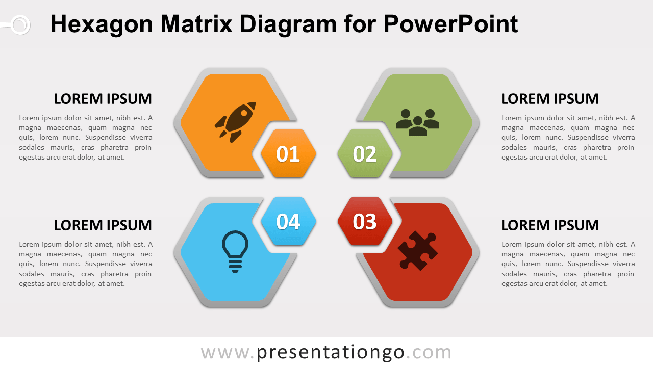 Free Hexagon Matrix for PowerPoint