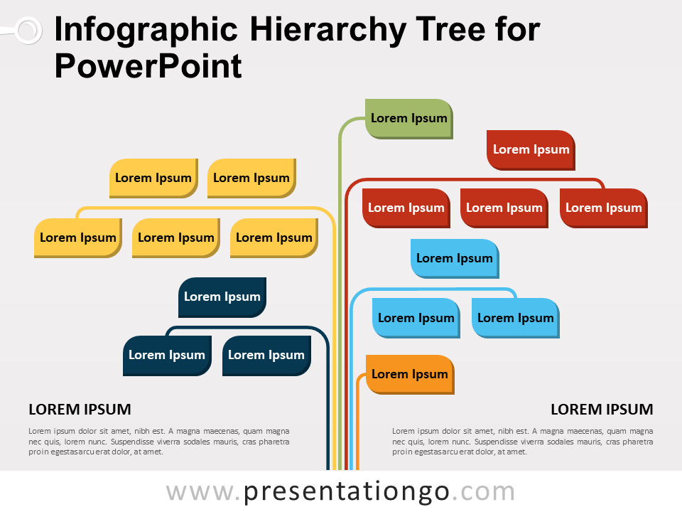 Free Infographic Hierarchy Tree for PowerPoint