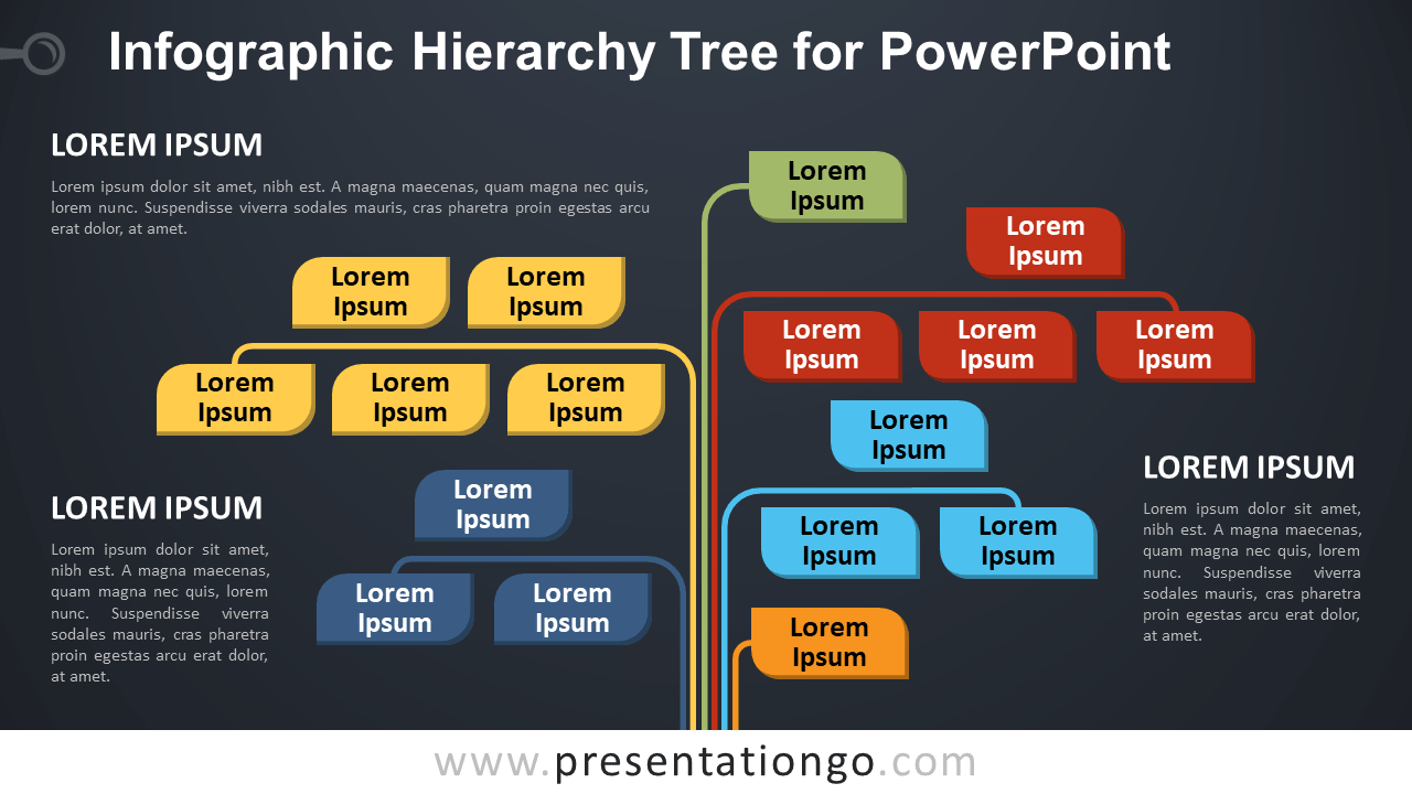 Free Infographic Tree for PowerPoint - Dark Background