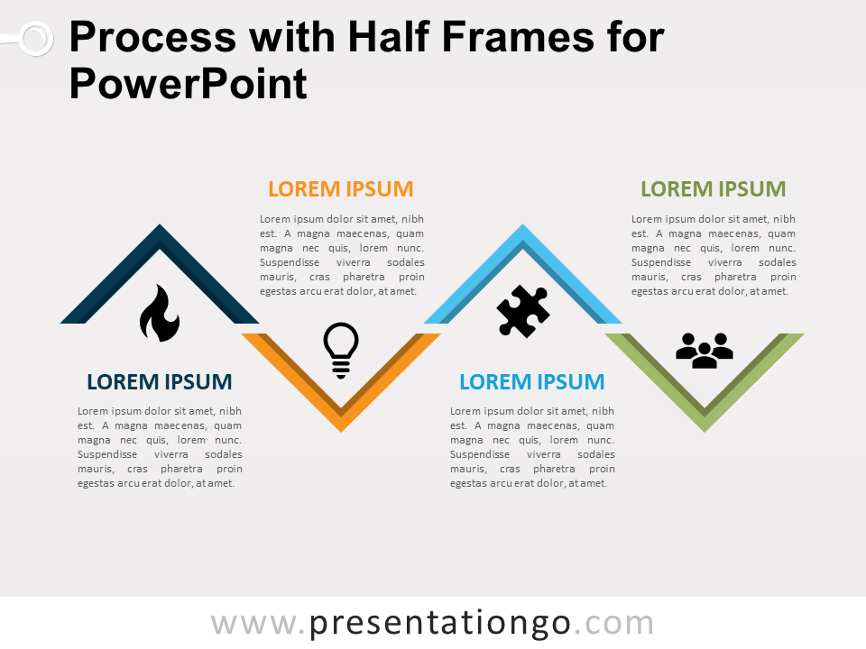 Free Process with Half Frames for PowerPoint