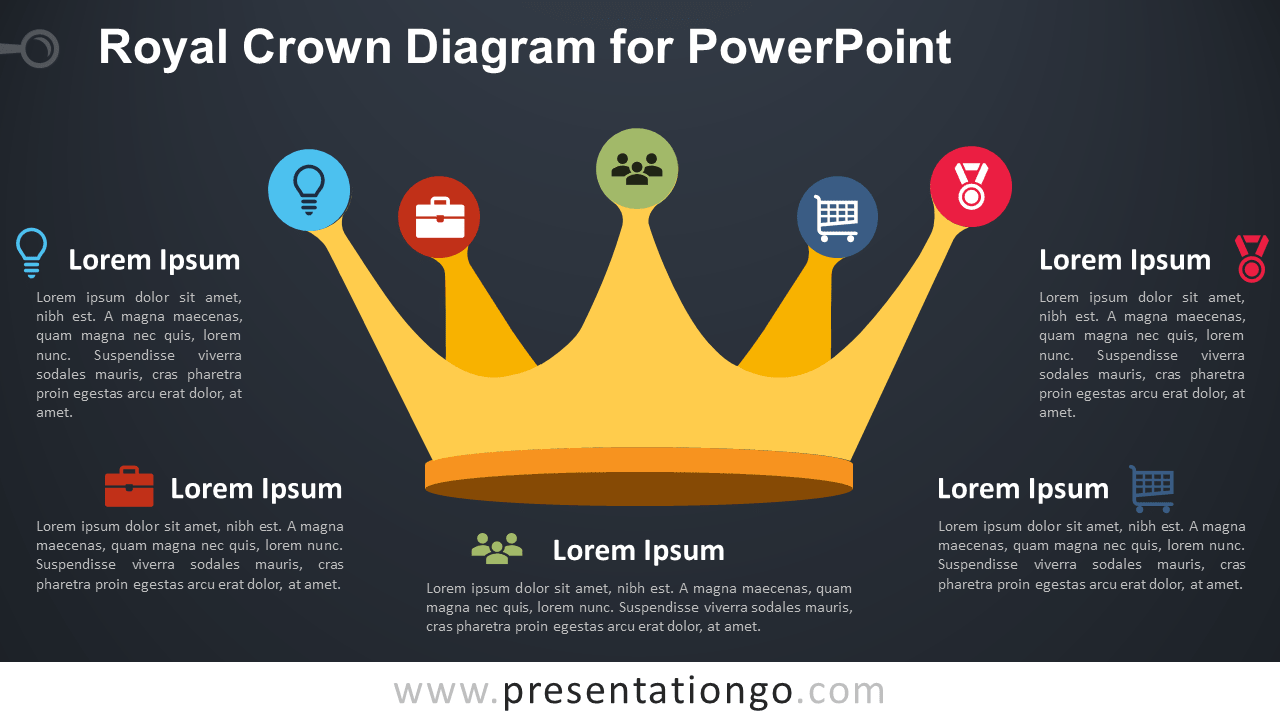 Royal Crown for PowerPoint - Dark Background