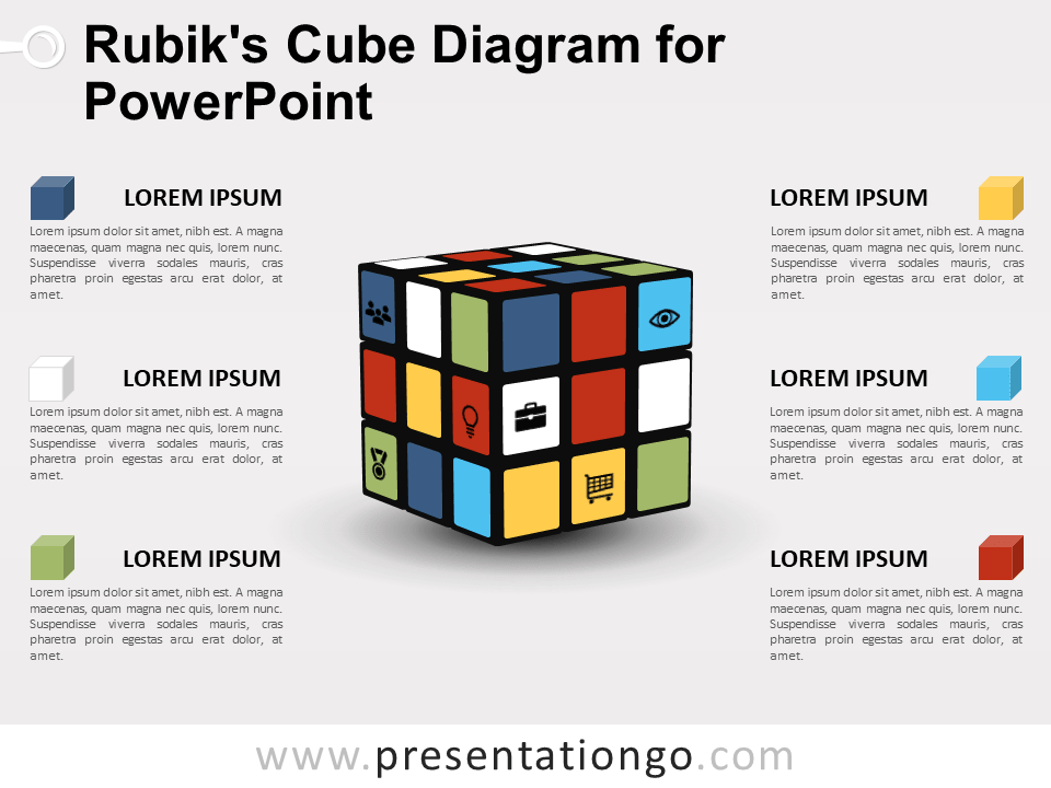 Free Rubik's Cube Diagram for PowerPoint
