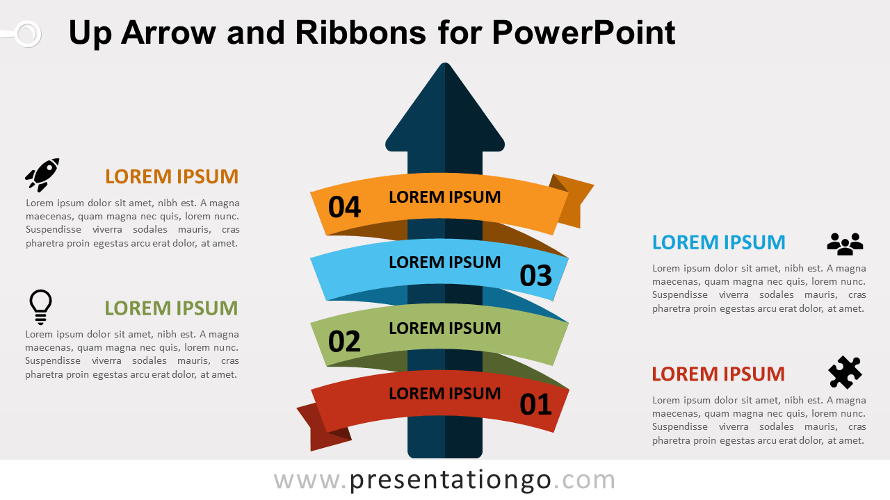 Up-Arrow and Ribbon for PowerPoint