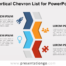 Free Vertical Chevron List for PowerPoint