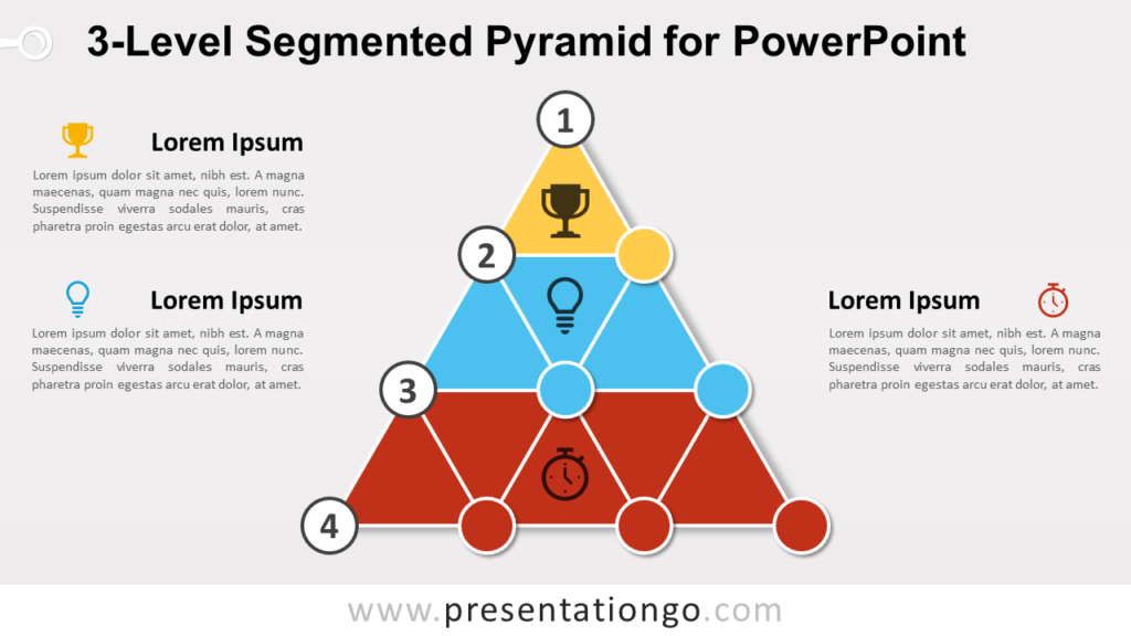 3-Level Segmented Pyramid for PowerPoint