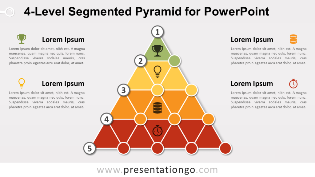 4-Level Segmented Pyramid for PowerPoint