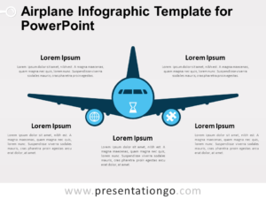 Free Airplane Infographic Template for PowerPoint