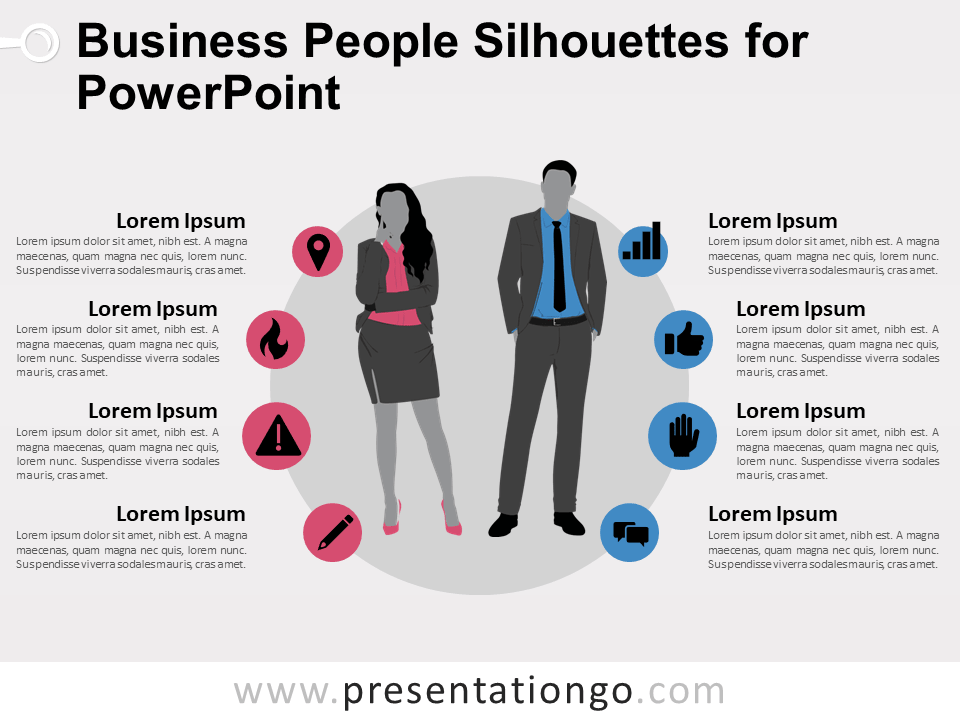 Free Business People Silhouettes for PowerPoint