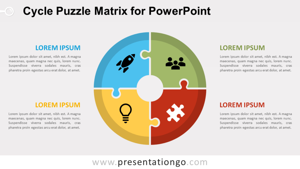 Free Cycle Puzzle for PowerPoint