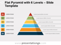 Free Flat Pyramid with 6 Levels Slide Template