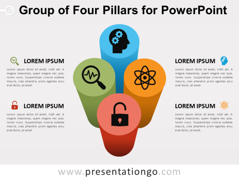 Free Group of Four Pillars for PowerPoint