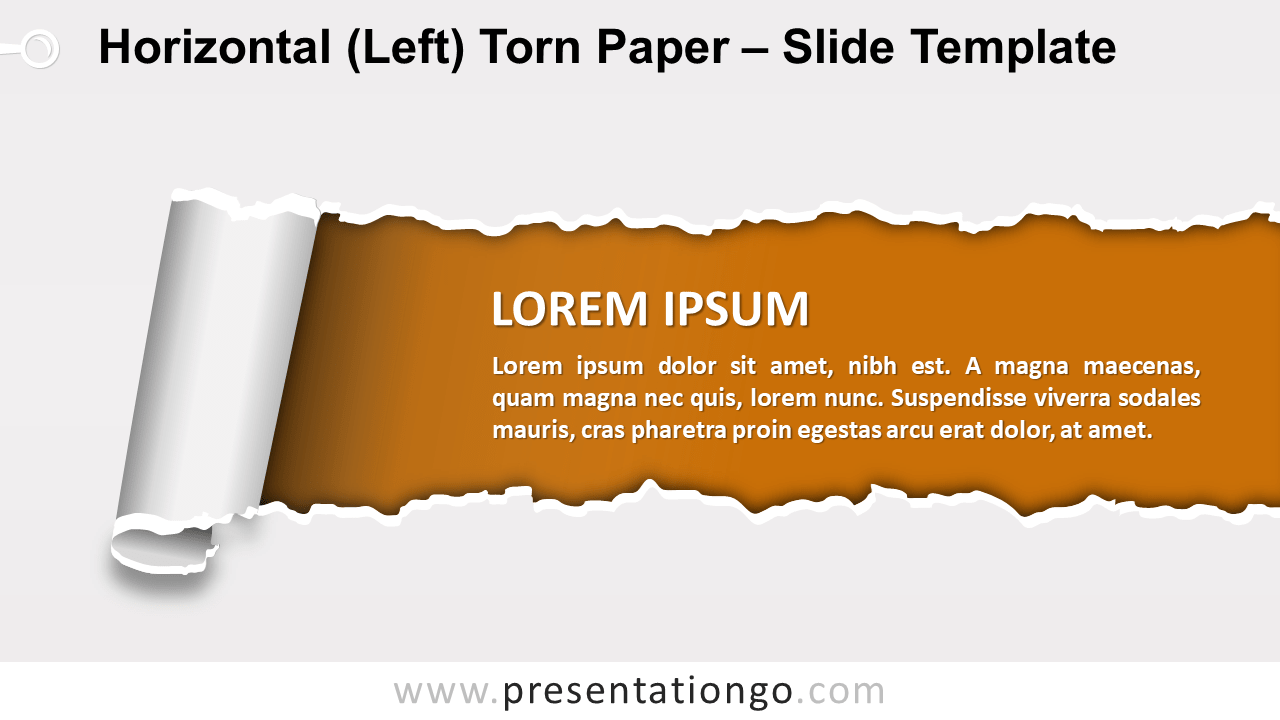 Horizontal Left Torn Paper for PowerPoint and Google Slides