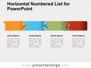 Free Horizontal Numbered List for PowerPoint