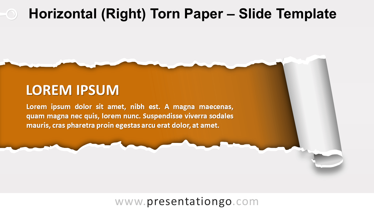Horizontal Right Torn Paper for PowerPoint and Google Slides