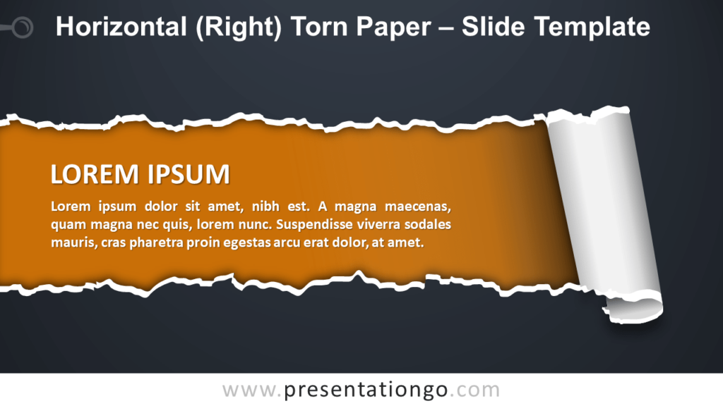 Horizontal Torn Paper for PowerPoint and Google Slides