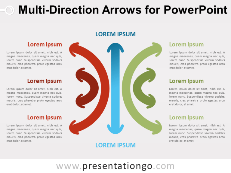 Free Multi-Direction Arrows for PowerPoint