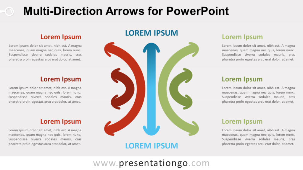 Multi-Direction Arrows for PowerPoint