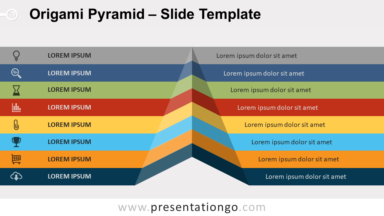 Free Origami Pyramid for PowerPoint and Google Slides