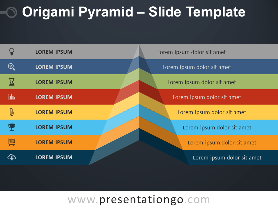 Free Origami Pyramid Slide Template