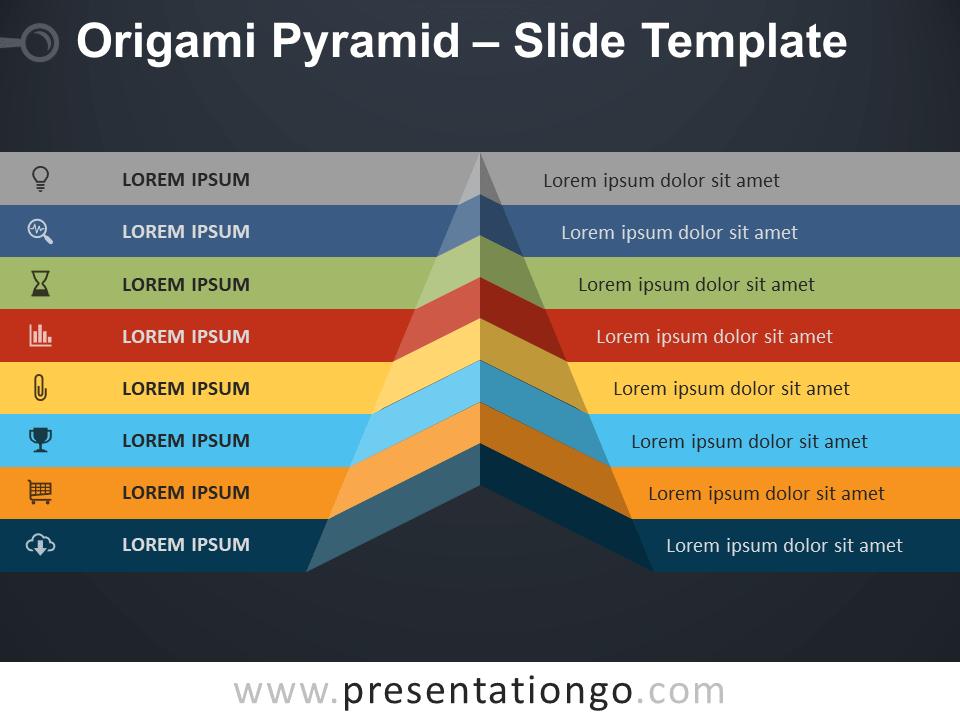 Free Origami Pyramid Slide Template