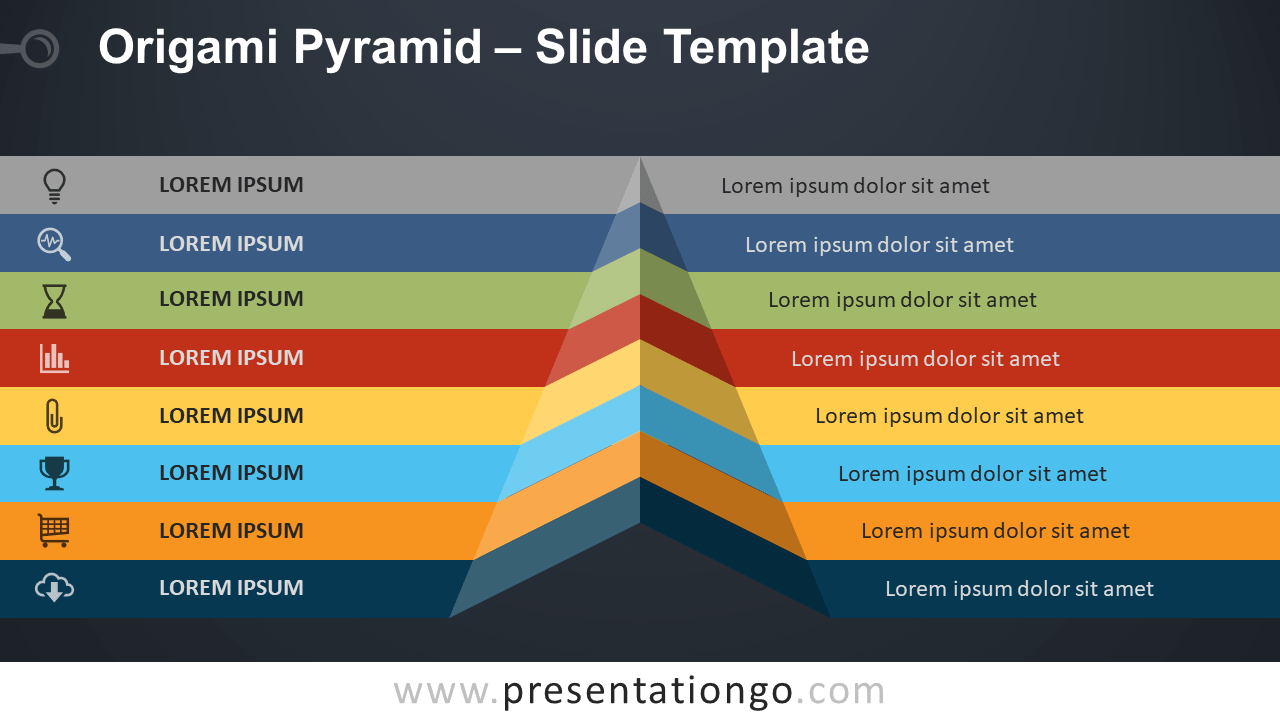 Free Origami Pyramid Template for PowerPoint and Google Slides