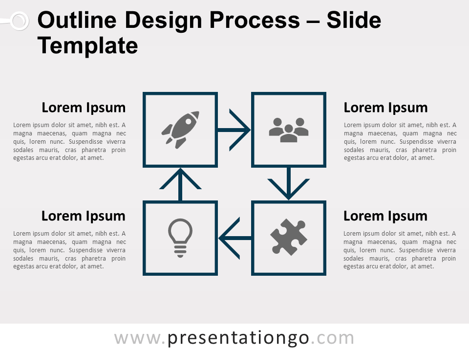 Outline Design Process for PowerPoint and Google Slides - 1 Color