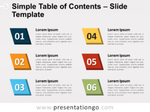 Free Simple Table of Contents Slide Template