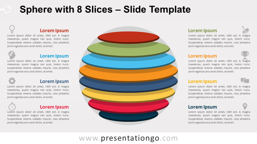 Free Sphere with 8 Slices for PowerPoint and Google Slides