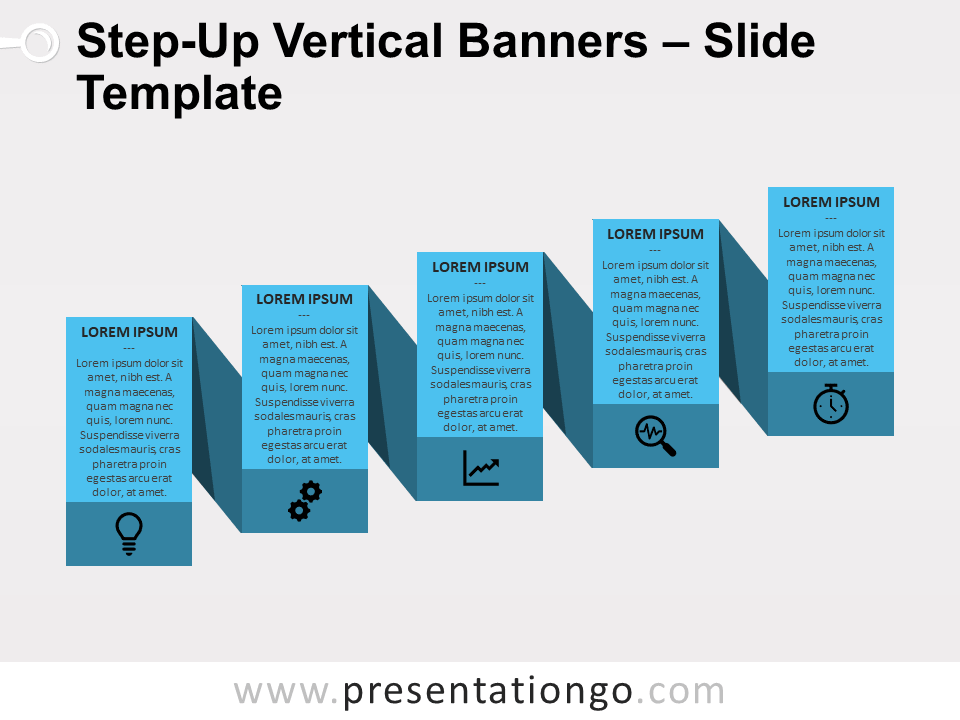 Step-Up Vertical Banners - 1 Color