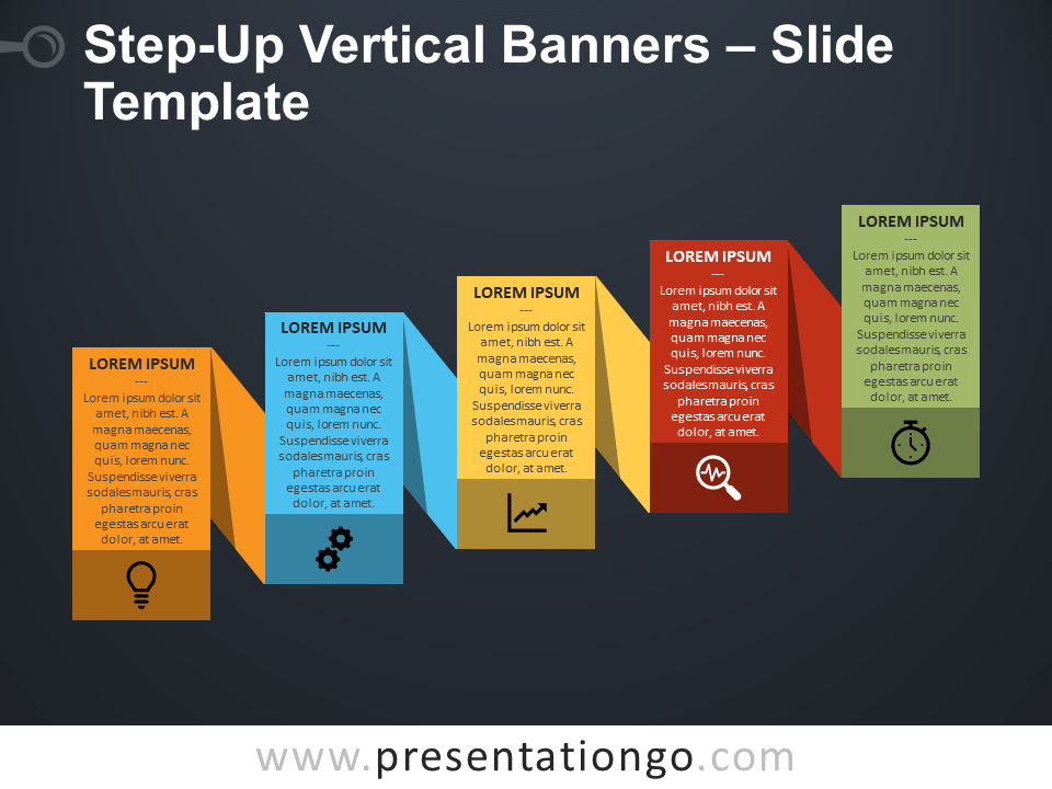 Step-Up Vertical Banners for PowerPoint